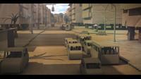 cardboard city building 3d model